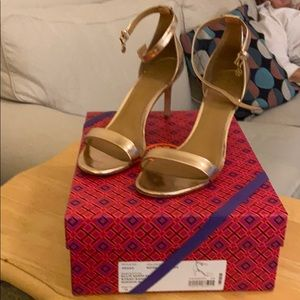 Tory Burch Ellie 85mm Rose Gold heels US11